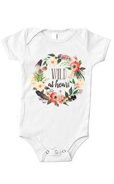 Wild at Heart Floral Organic Onesie