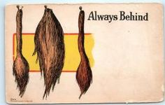 Belated Always Behind Sorry So Late Pin the Tail on the Donkey Postcard