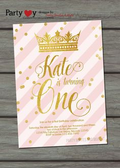 Princess Birthday Invitation Princess by PartyInvitesAndMore