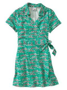 Wrap dress for little kids.  I love it! Diane von Furstenberg ♥ GapKids wrap dress