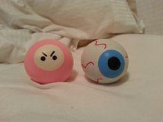 Ninja and eyeball diy stress balls!