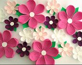 16 Paper Flowers/ Wall Flowers/ Arch Flowers/ Wedding Decoration/ Large Flowers/ Party Decoration/ Baby Shower Decorations/ Nursery Wall