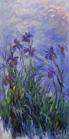 painting oil Lilac Irises - Claude Monet hand-painted oil painting reproduction,Landscape with Purple Flowers,bedroom decor fine art,living room wall art Paintings Famous, Monet Paintings, Landscape Oil Paintings, Famous Impressionist Paintings, Indian Paintings, Arte Van Gogh, Simple Oil Painting, Painting Wallpaper, Monet Wallpaper