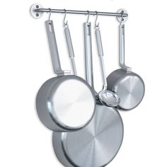 WALLNITURE Gourmet Kitchen Rail Rack Pot Pan Lid Organizer and 10 Hooks 16 Inch Gray *** You can get more details by clicking on the image. (This is an affiliate link) Kitchen Pot, Kitchen Jars, Kitchen Set Up, Kitchen Rails, Kitchen On A Budget, Lid Organizer, Rental Kitchen, Kitchen Hooks, Kitchen Utensil Storage