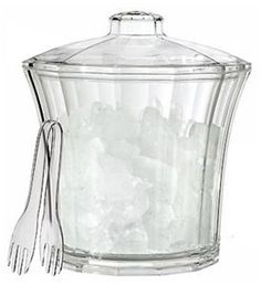 Creative Ware Ice Bucket - Acrylic - Insulated by Creative Ware. $30.75. Sold individually. Classic lines combined with a modern, clear acrylic finish give this ice bucket versatile style.... Capacity: 4 quarts/3.8 litres. Colour/Pattern: Clear. Classic lines combined with a modern, clear acrylic finish give this ice bucket versatile style suitable for indoor and outdoor entertaining. The bucket features a removable liner that helps keep melting to a minimum. T...
