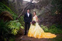 """Casal se inspira em """"A Bela e A Fera"""" para ensaio de casamento"""