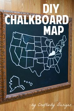 Turn an old piece of art into a chalkboard!