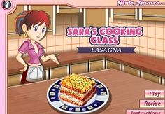 Lasagna: Sara's Cooking Class  Miniclip What's that delightful smell coming from the kitchen? It's lasagna, Sara's latest and greatest dish.Play the best games in Miniclip.vg