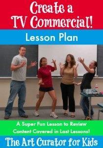 Drama: The Art Curator for Kids - Create a TV Commercial Lesson Plan Drama Teacher, Drama Class, Drama Drama, Acting Class, Acting Games, Teaching Theatre, Teaching Music, Theatre Games, Learning Guitar