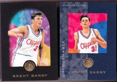LOS ANGELES CLIPPER LOT OF 2 SKYBOX E-XL BRENT BARRY ROOKIES REGULAR UNTOUCHABLE #LosAngelesClippers