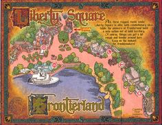 Sorcerer's of the Magic Kingdom Map: Liberty Square and Frontierland locations.