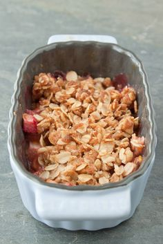 Rhubarb Crisp for two.