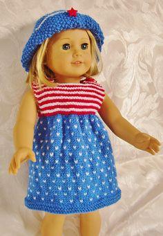 Ravelry: AMERICAN GIRL DOLL MONOCHROME MAGIC & STARS & STRIPES pattern by Jacqueline Gibb