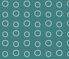 Now for sale!!! White Circles fabric by shy_bunny on Spoonflower - custom fabric