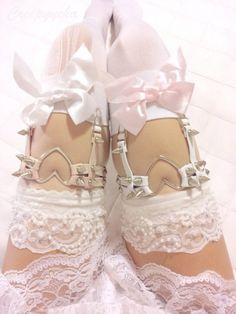 Double Strap Heart Ring Thigh Garter · Galaxy Milk · Online Store Powered by Storenvy