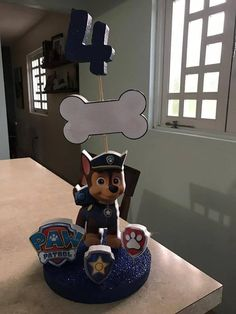 Paw Patrol Centerpieces by StyrofoamArtDesign on Etsy