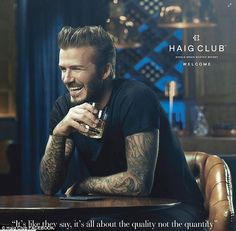 'I'm proud to be working at the heart of a home-grown brand': Interested buyers and fans can now pick up a bottle of David Beckham's Haig Club Whisky