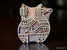 Hand Carved Indian Wood Textile Stamp Block by charancreations, $9.60