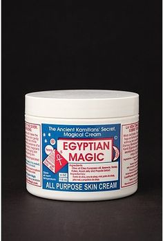 Egyptian Magic Cream, I learned that putting this stuff in your hair when its damp works really well! Just crimp in and your hair feels really soft and wavy once it's dry! : )