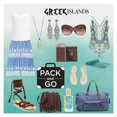 """""""Weekend Trip To The Greek Islands"""" by tammy-gardner on Polyvore featuring Designers Guild, Miguelina, Ancient Greek Sandals, Sans Souci, River Island, Elaiva, Rebecca Minkoff, Miguel Ases, Liebeskind and Tom Ford"""