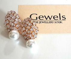 Silver based American diamond earrings,22kt Gold and Rhodim played,life long service of reposlishing incase jewellery turns black. Gewels- experience luxury gewels#jewels#jeweller#degner#earrings#jewellery#