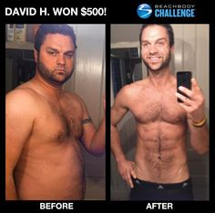 Excellent job David.  You can change too. You could be the next winner of $500 or up to $100,000. Ask me how. www.ryanwilliamsfitness.com