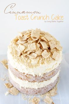Cinnamon Toast Crunch Cake: A delicious, light, and fluffy cake inspired by the well loved cereal!