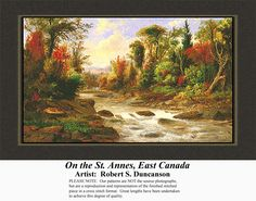 Margaret T. of Canada just Purchased On the St. Annes, East Canada, Landscapes Counted Cross Stitch Pattern