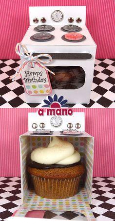 Empaque súper original y coqueto para tus cupcakes.