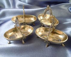 Antique French Sterling Silver Four Salt Cellars (4)