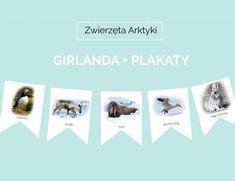 Zimowa dekoracja do pokoju dziecka – zwierzęta Arktyki – GIRLANDA + PLAKATY do pobrania !