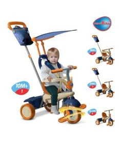 View details of Smart Trike Vanilla 4-in-1- Blue For George