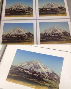 Mount Errigal, linocut reduction Mountains, Nature, Prints, Travel, Naturaleza, Viajes, Destinations, Traveling, Trips