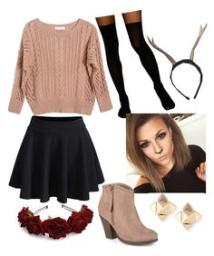 """""""Deer Costume"""" by naomi-esperanza ❤ liked on Polyvore featuring Ryan Roche, ASOS, WithChic, Valentino and Journee Collection"""