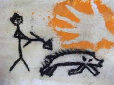 Cave Painting Ideas Stone Age Cave Paintings, Poster Paint, Fine Sand, Figure Drawing, Project Ideas, Art, Art Background, Ideas For Projects, Kunst