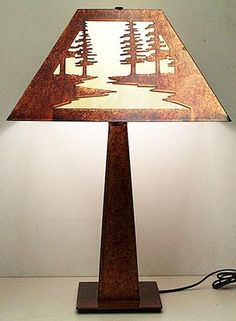 Thank you. You will receive a $1 off coupon during checkout. Rustic Lighting - Copper Mission Lamp With Scenes
