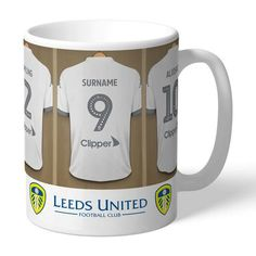 Personalised Ceramic Mug - Leeds United FC Dressing Room Leeds United Football, Leeds United Fc, Personalized Photo Frames, Personalized Gifts, Personalised Football, Love Heart Images, Dressing Room Design, Gifts For Sports Fans, Special Gifts