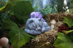 Sleeping Fairy Cat Statues Fairy Garden by PhenomeGNOME on Etsy, $24.99