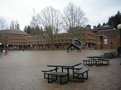Western Washington University - Bellingham, WA-spent much time during my childhood here in this square hanging out when my dad worked there and got his Masters!  Just love it!