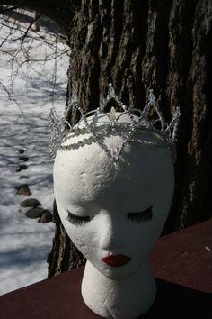Professional Ballet Headpiece Tiara Ballerina Silver AB by Angamow