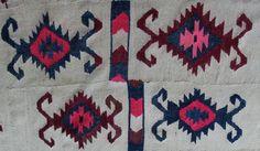 Antique Tribal Kilim Rug Large Area Carpet by VintageHomeStories