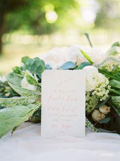 Romantic wedding invitation: http://www.stylemepretty.com/oregon-weddings/salem-or/2016/08/10/romantic-blush-engagement-session/ Photography: Katlyn Marie - http://katlynmariephotoart.com/
