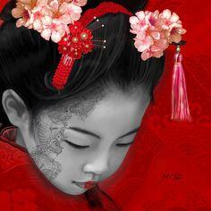 """Little Japan Realizzato per il progetto di beneficenza """"Colori per il Giappone"""" nel 2010. Il ricavato della vendita delle opere è andato a favore della crocerossa giapponese."""