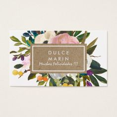 Grow your business with these Vintage Rustic Florals Business Cards. Each business card can be customized to fit your needs by Zazzle! Vintage Business Cards, Elegant Business Cards, Business Card Design, Creative Business, Print Templates, Card Templates, Floral Prints, Floral Logo, Quilt