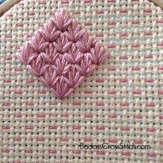 Week 8 of the Diamond Ray — Badass Cross Stitch Embroidery 3d, Hand Embroidery Stitches, Cross Stitch Embroidery, Needlepoint Stitches, Needlework, Cross Stitch Tutorial, Brazilian Embroidery, Crochet Squares, Needle And Thread
