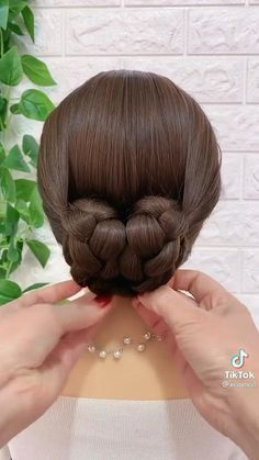 Hairdo For Long Hair, Easy Hairstyles For Long Hair, Up Hairstyles, Braids Long Hair, Braid Hair, Short Hair, Front Hair Styles, Medium Hair Styles, Hair Style Vedio