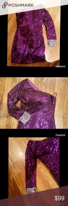 I just added this listing on Poshmark: Gorgeous purple sequins one shoulder dress- XS/S. #shopmycloset #poshmark #fashion #shopping #style #forsale #Dresses & Skirts