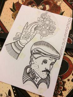 Instagram : mrs.autumntattoo // mrs.autumntattoo@gmail.com #tradtattoo #tattootrad #oldschool #oldschooltattoo #tattooflash #flashtattoo #tattoos #tatouages