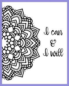 Motivational Mandala Free Coloring Pages