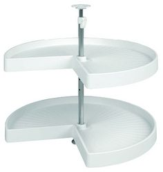 Corner Unit, Kidney Shelf Lazy Susan 2 Tray Set